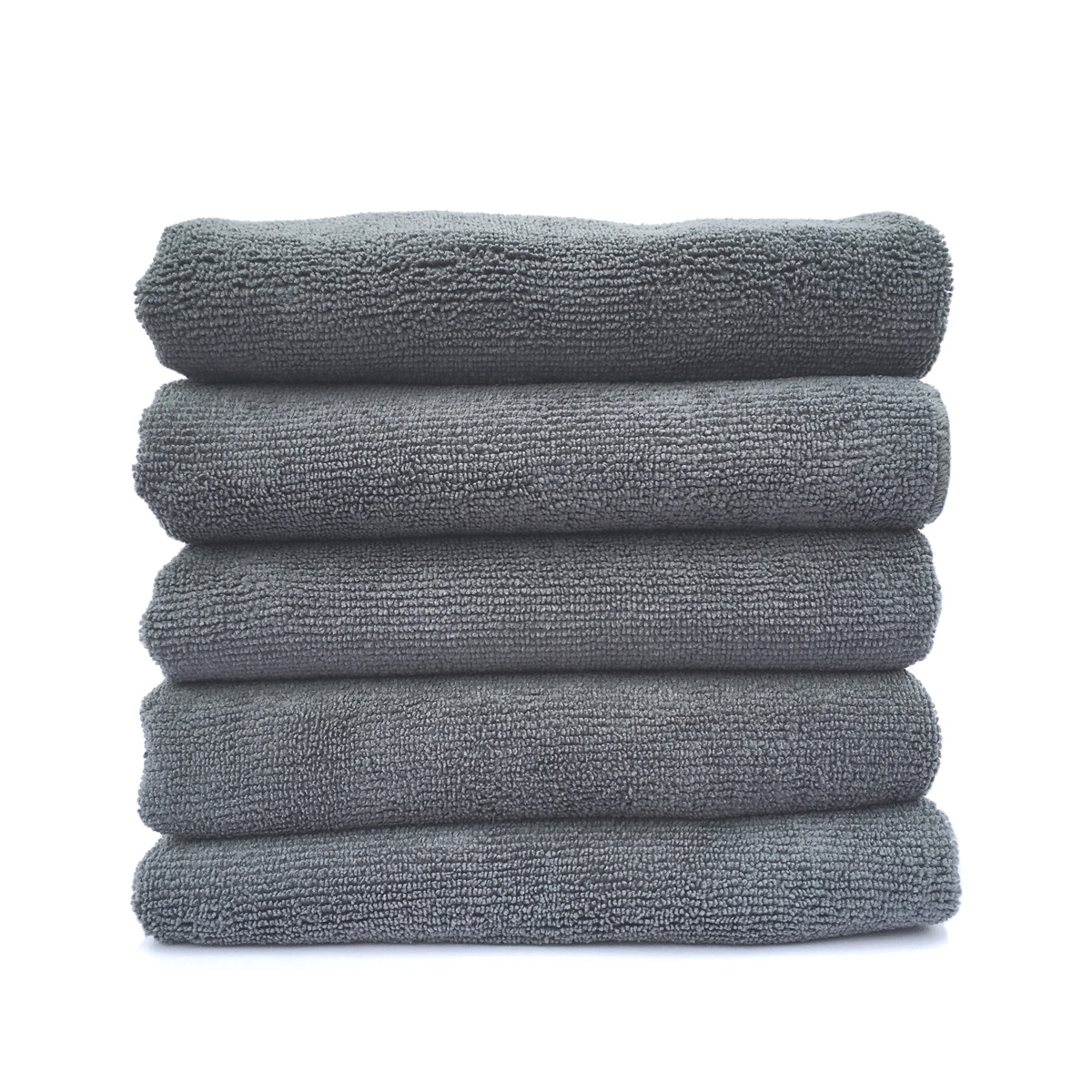 Towels Multi-purpose Microfiber Soft Fast Drying Travel Gym Home Office Washcloths 5-pack(13 x 28 Inch) (Grey)