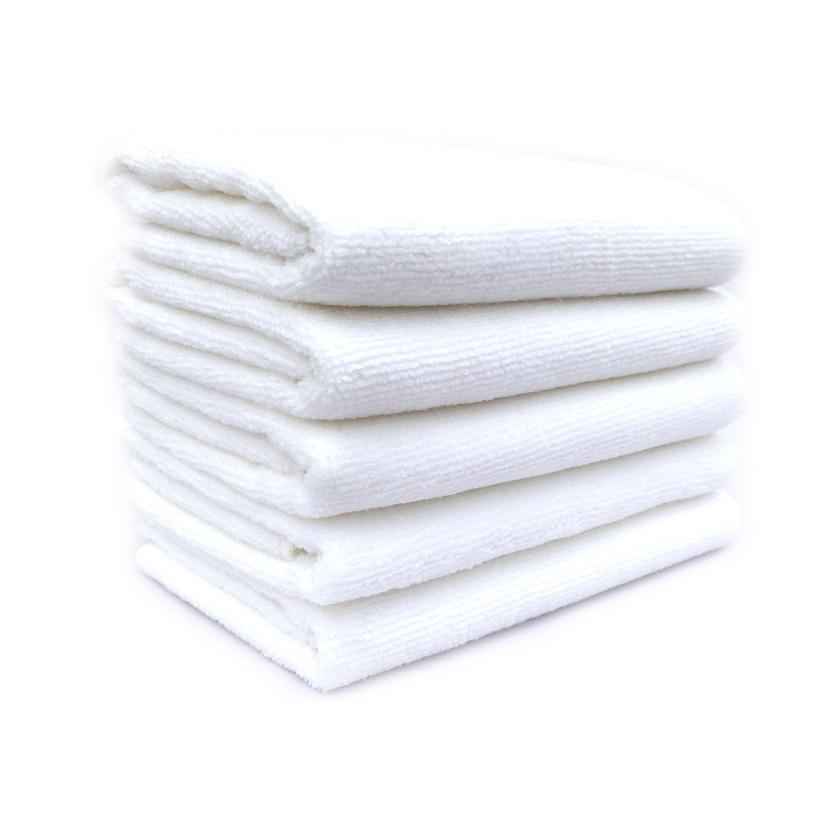 Towels Multi-purpose Microfiber Soft Fast Drying Travel Gym Home Office Washcloths 5-pack(13 x 28 Inch) (White)
