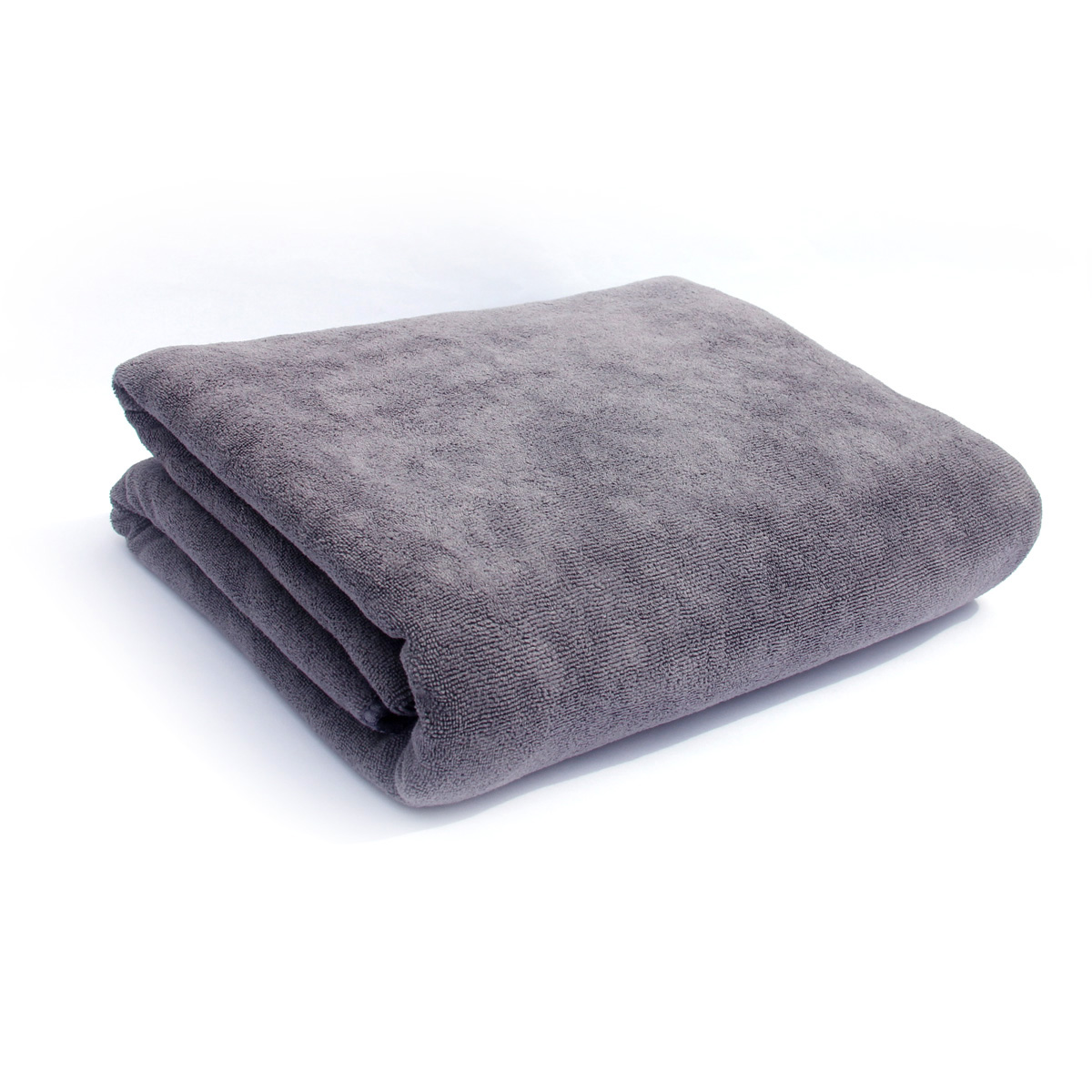 Bath Towels Multi-Purpose Microfiber (32 x 71 Inch) Soft Fast Drying Travel Gym Home Hotel Office Washcloths (Grey)